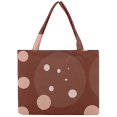 Brown abstract design Mini Tote Bag