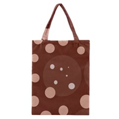 Brown abstract design Classic Tote Bag