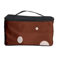Brown abstract design Cosmetic Storage Case