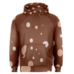 Brown abstract design Men s Pullover Hoodie