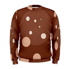 Brown abstract design Men s Sweatshirt