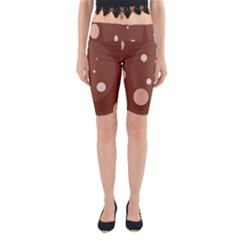 Brown abstract design Yoga Cropped Leggings