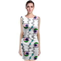 Eye Bug Large Sleeveless Midi Dress