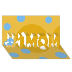 Blue and yellow moon #1 MOM 3D Greeting Cards (8x4)