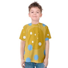 Blue and yellow moon Kid s Cotton Tee