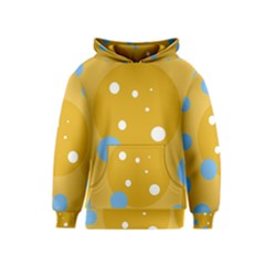 Blue and yellow moon Kids  Pullover Hoodie