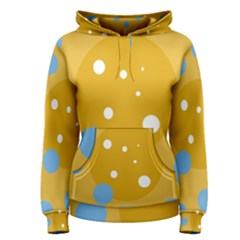 Blue and yellow moon Women s Pullover Hoodie