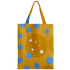 Blue and yellow moon Zipper Classic Tote Bag