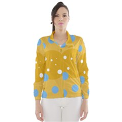 Blue and yellow moon Wind Breaker (Women)