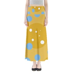 Blue and yellow moon Maxi Skirts