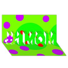 Green and purple dots #1 MOM 3D Greeting Cards (8x4)