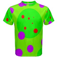 Green and purple dots Men s Cotton Tee