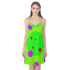 Green and purple dots Camis Nightgown