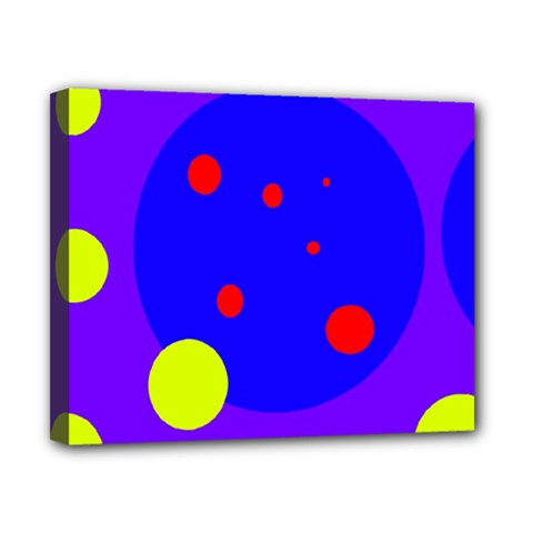 Purple and yellow dots Canvas 10  x 8