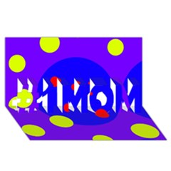 Purple and yellow dots #1 MOM 3D Greeting Cards (8x4)