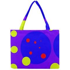 Purple and yellow dots Mini Tote Bag