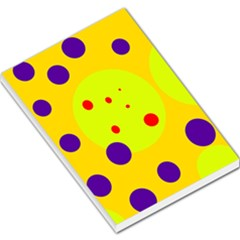 Yellow and purple dots Large Memo Pads