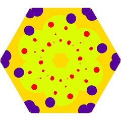 Yellow and purple dots Mini Folding Umbrellas
