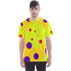 Yellow and purple dots Men s Sport Mesh Tee