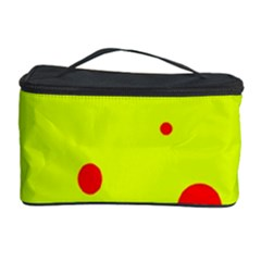 Yellow and purple dots Cosmetic Storage Case