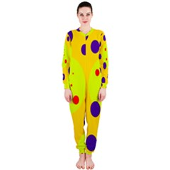 Yellow and purple dots OnePiece Jumpsuit (Ladies)