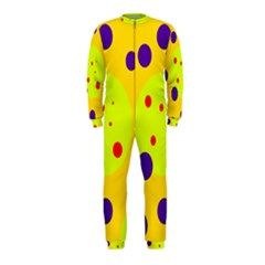 Yellow and purple dots OnePiece Jumpsuit (Kids)