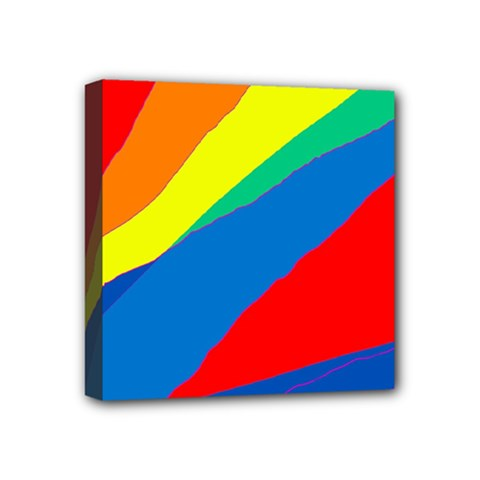 Colorful abstract design Mini Canvas 4  x 4