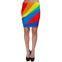 Colorful abstract design Bodycon Skirt