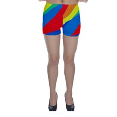 Colorful abstract design Skinny Shorts
