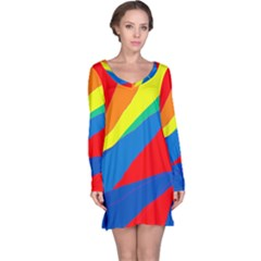 Colorful abstract design Long Sleeve Nightdress