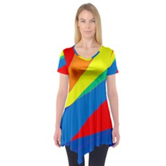 Colorful abstract design Short Sleeve Tunic