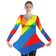 Colorful abstract design Long Sleeve Tunic