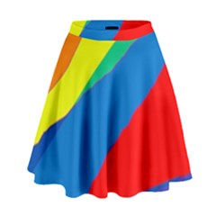 Colorful abstract design High Waist Skirt