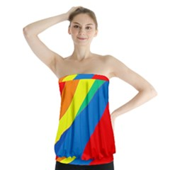 Colorful abstract design Strapless Top