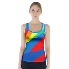 Colorful abstract design Racer Back Sports Top