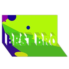 Colorful abstract design BEST BRO 3D Greeting Card (8x4)