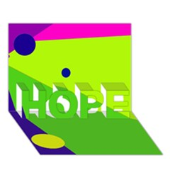 Colorful abstract design HOPE 3D Greeting Card (7x5)