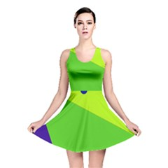 Colorful abstract design Reversible Skater Dress