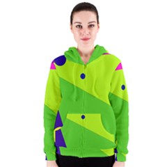 Colorful abstract design Women s Zipper Hoodie