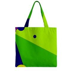 Colorful abstract design Zipper Grocery Tote Bag
