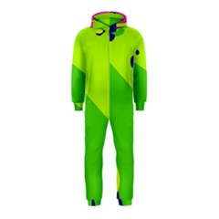 Colorful abstract design Hooded Jumpsuit (Kids)
