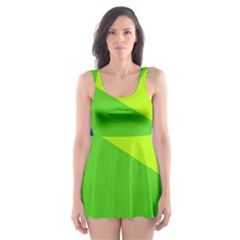 Colorful abstract design Skater Dress Swimsuit