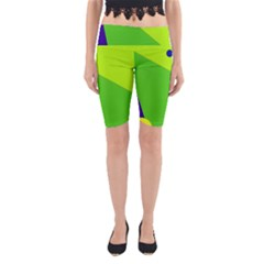 Colorful Abstract Design Yoga Cropped Leggings