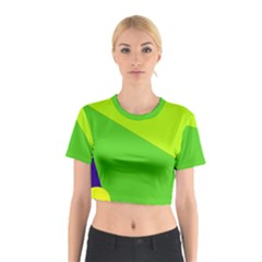 Colorful Abstract Design Cotton Crop Top