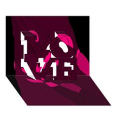 Abstract design LOVE 3D Greeting Card (7x5)