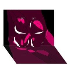 Abstract design Clover 3D Greeting Card (7x5)