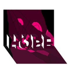 Abstract design HOPE 3D Greeting Card (7x5)