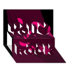 Abstract design You Rock 3D Greeting Card (7x5)