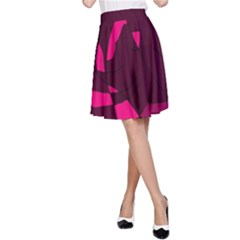 Abstract design A-Line Skirt