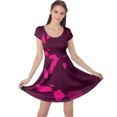 Abstract design Cap Sleeve Dresses